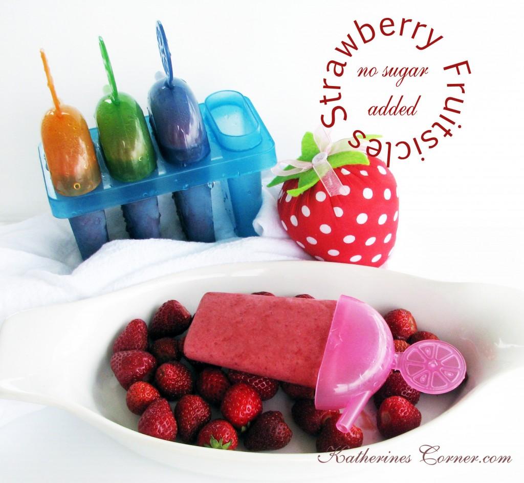 no sugar added strawberry fruitsicles