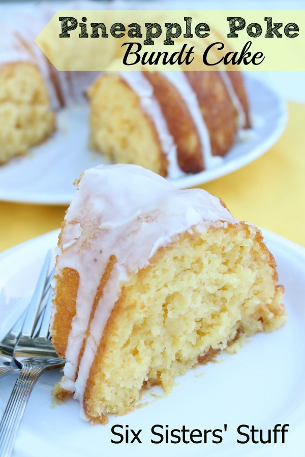 Pineapple poke bundt cake