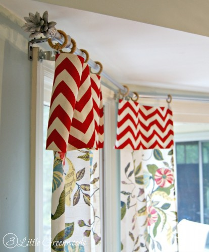 bay window diy curtain rod