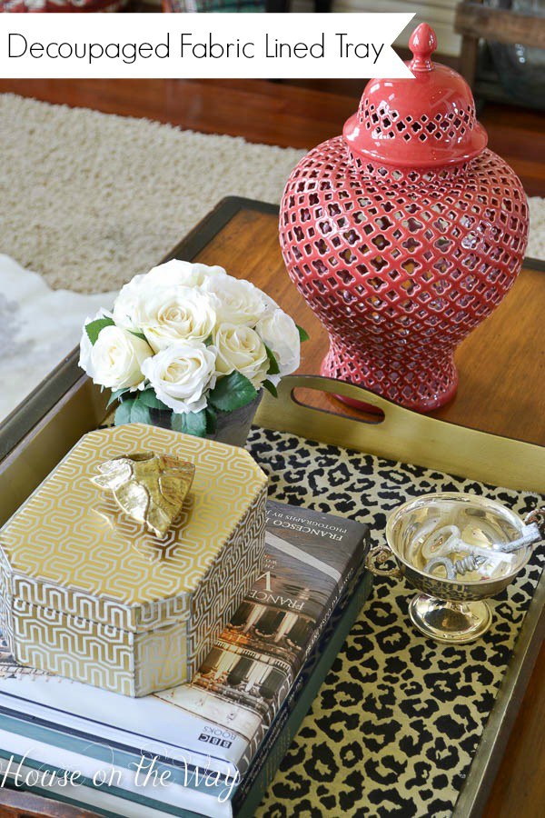 diy fabric lined tray