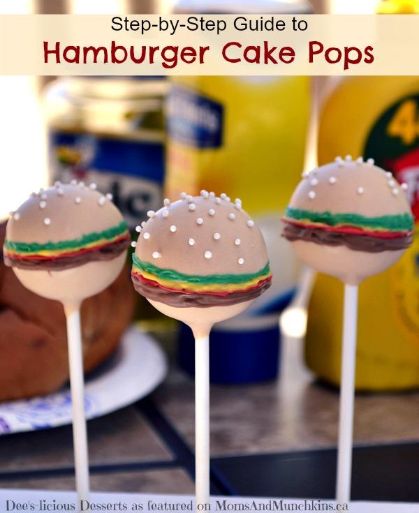 hamburger cake pops tutorial