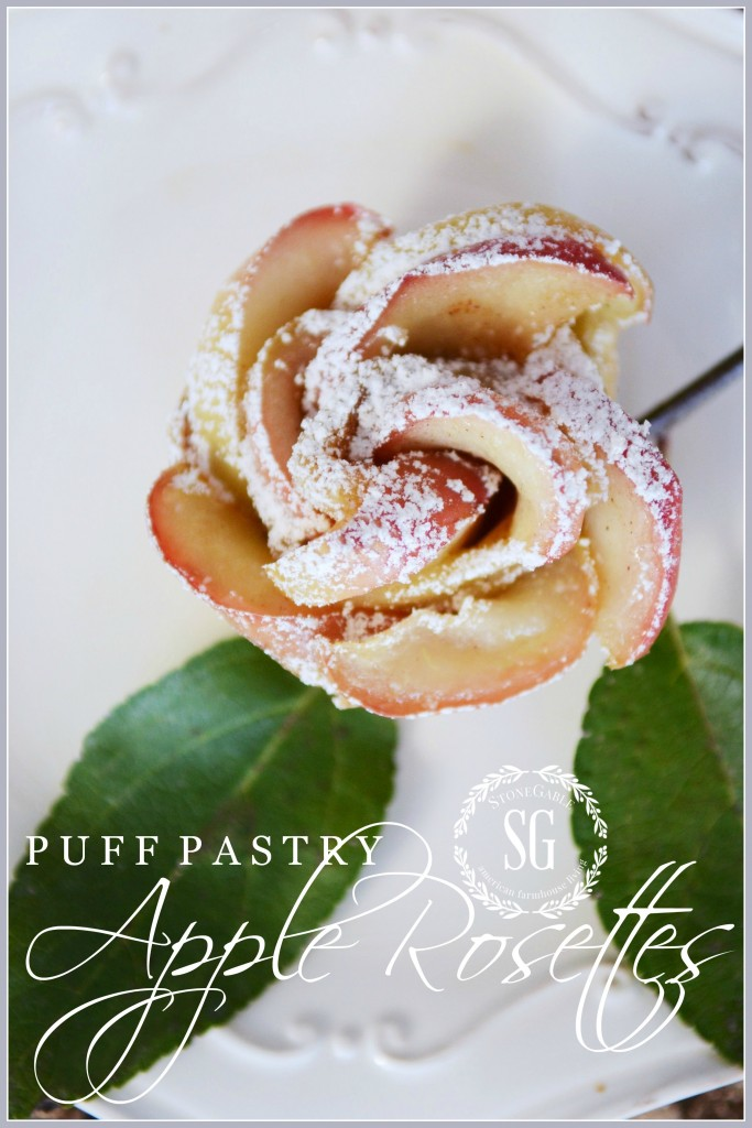 puff pastry apple rosettes