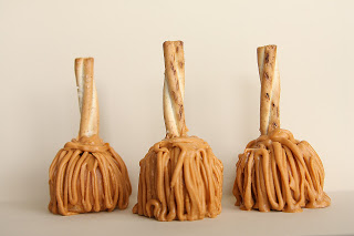 butterscotch witch broom cake pops