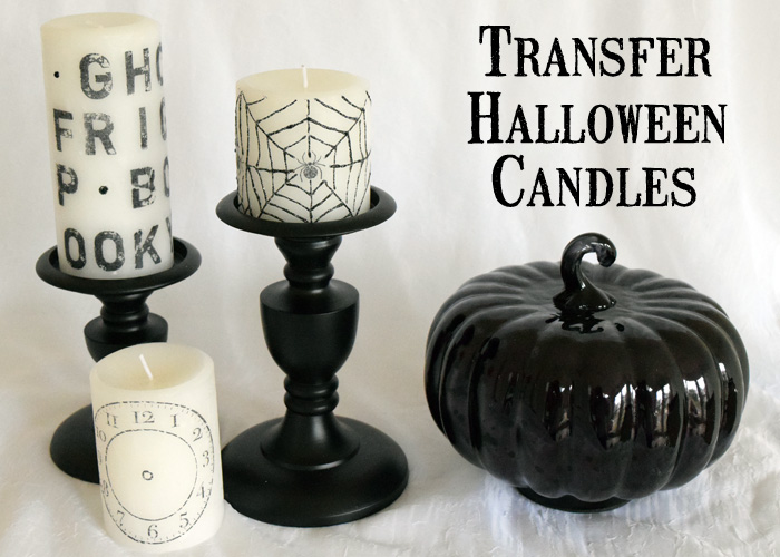 stamped halloween candles