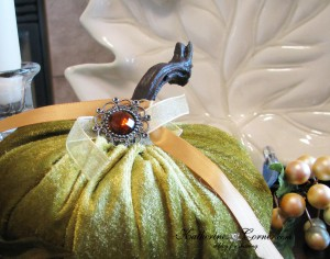 green velvet pumpkin