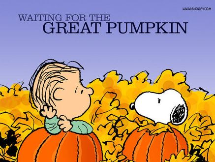 puppies and pumpkins linus