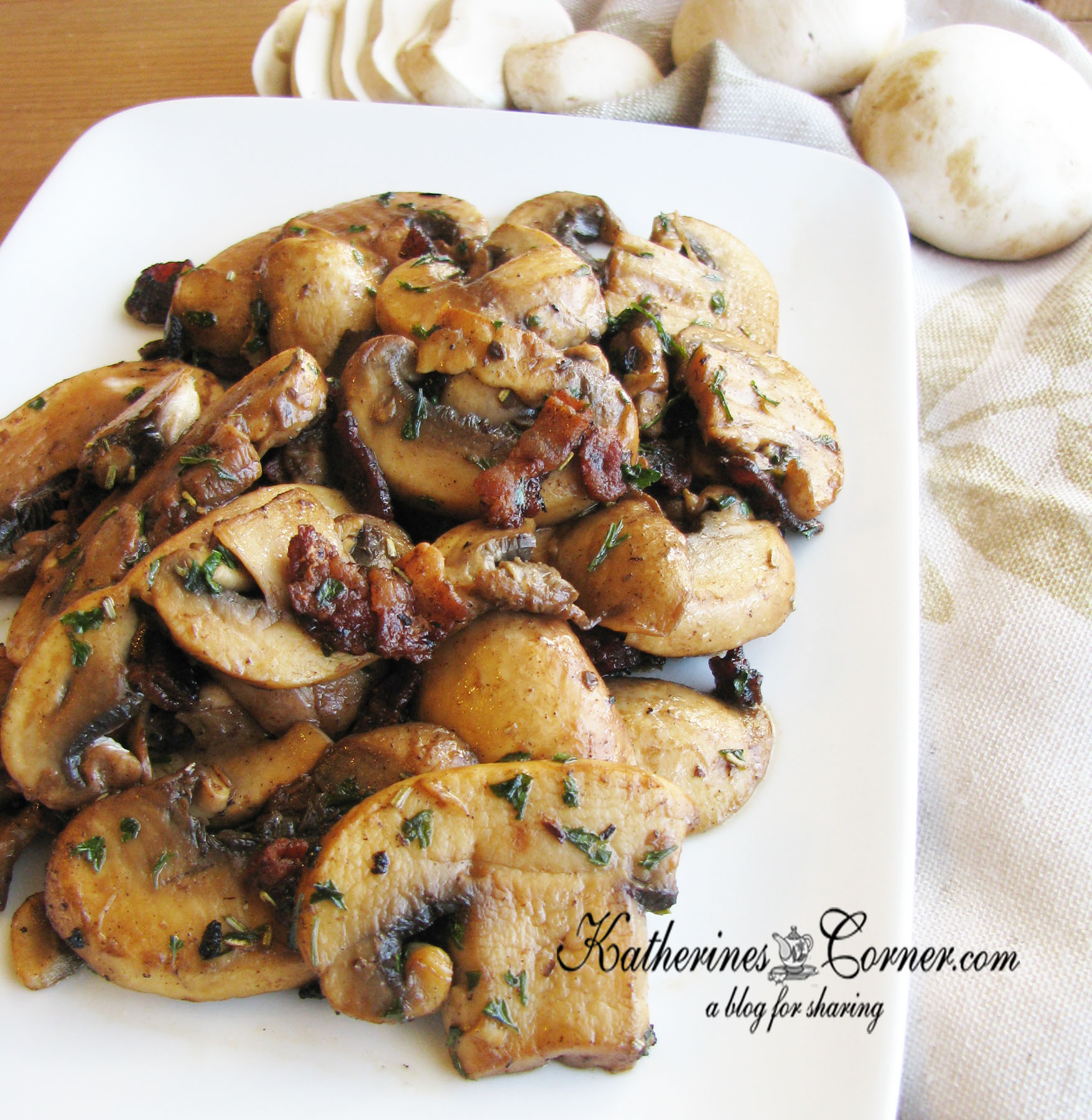 Herb With Bacon Mushrooms