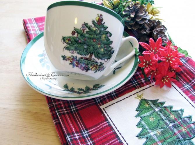 spode Christmas tree teacup katherines corner