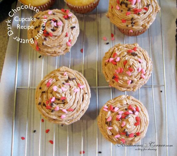 Peanut Butter Dark Chocolate Cupcakes