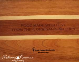personalized cutting board  katherines corner