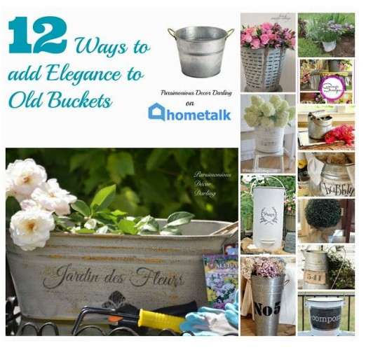 12 ways to add elegance using buckets