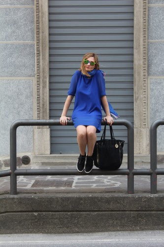 royal blue t shirt dress chic and casual