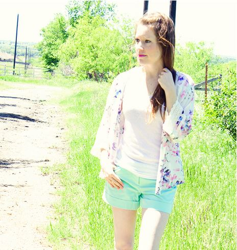 kimono and shorts