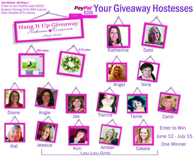 hang it up giveaway hostesses