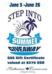 step into summer giveaway button