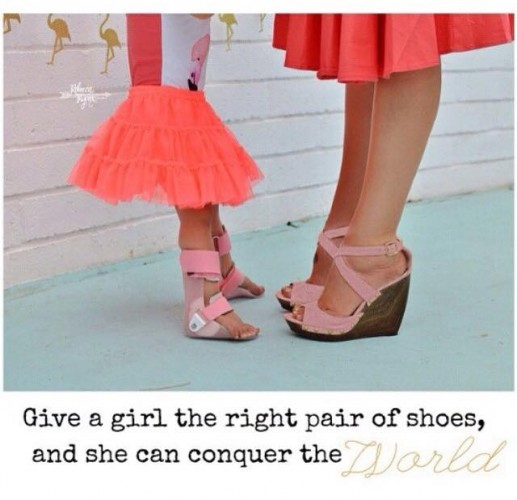 give  a girl a pair of shoes