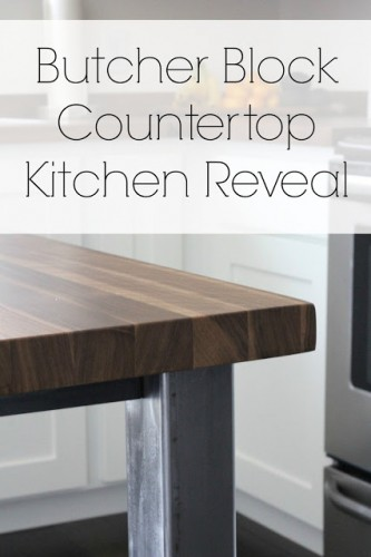 butcher clock counter top reveal