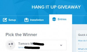 hang it up giveaway winner