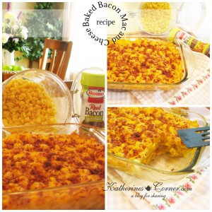 Baked Bacon Macaroni and Cheese