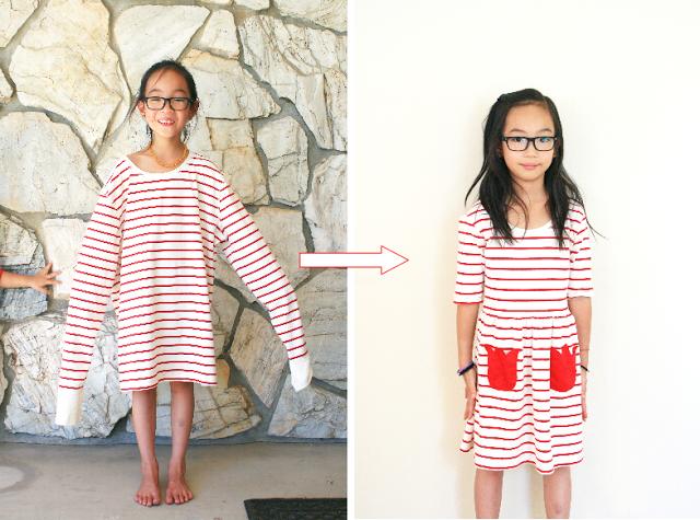 xxxl shirt repurposed to little girls dress
