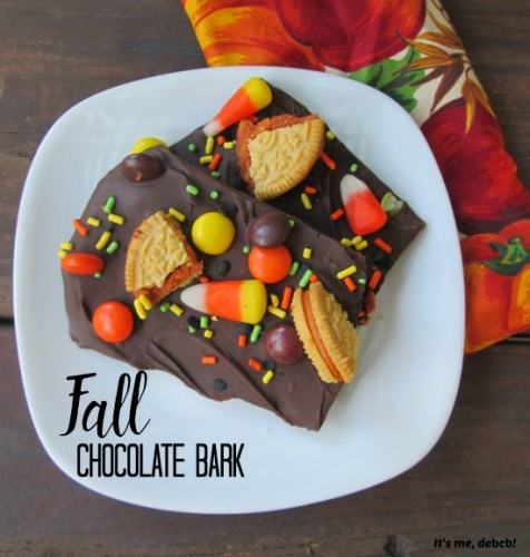fall chocolate bark candy