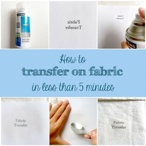 diy how to transfer onto fabric