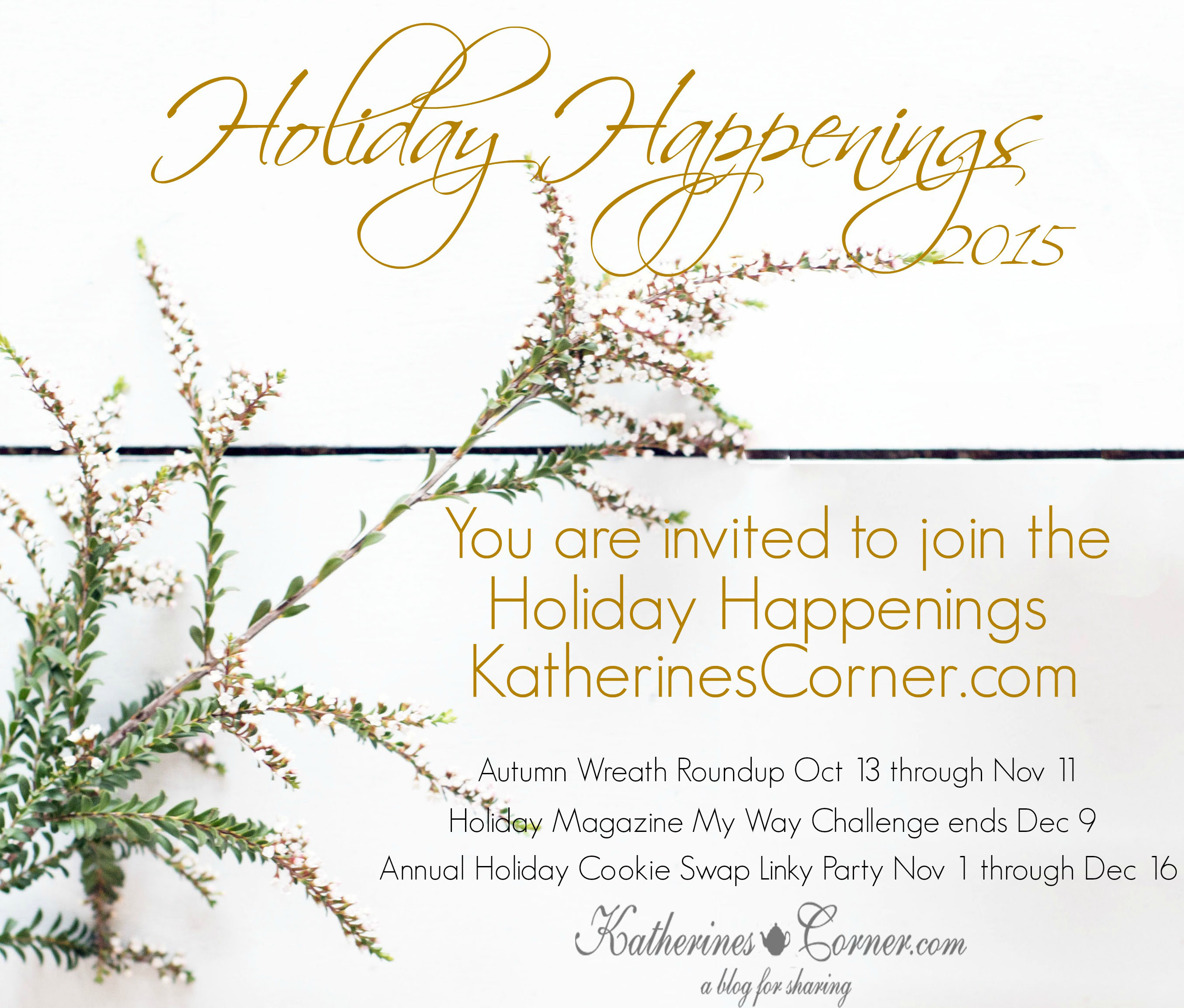 Join the Holiday Happenings At Katherines Corner