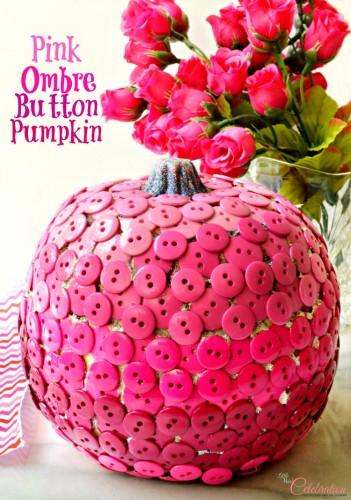 diy pink ombre pumpkin