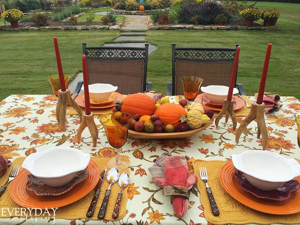 outdoor dinner tabllescape