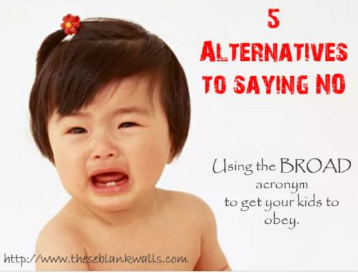 5 alternatives for telling a child no