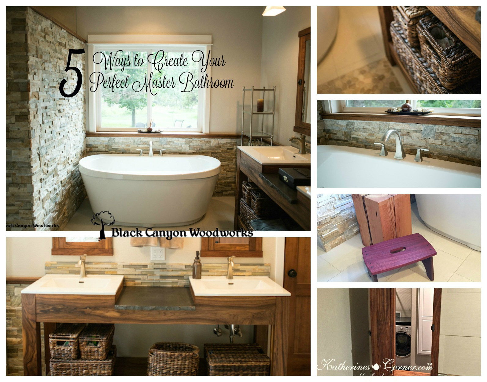 5 ways to create your perfect master bathroom katherines for Perfect master bathroom
