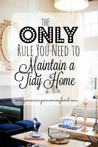 tips for maintaining a tidy home