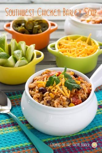 comfort food southwest chicken barley soup
