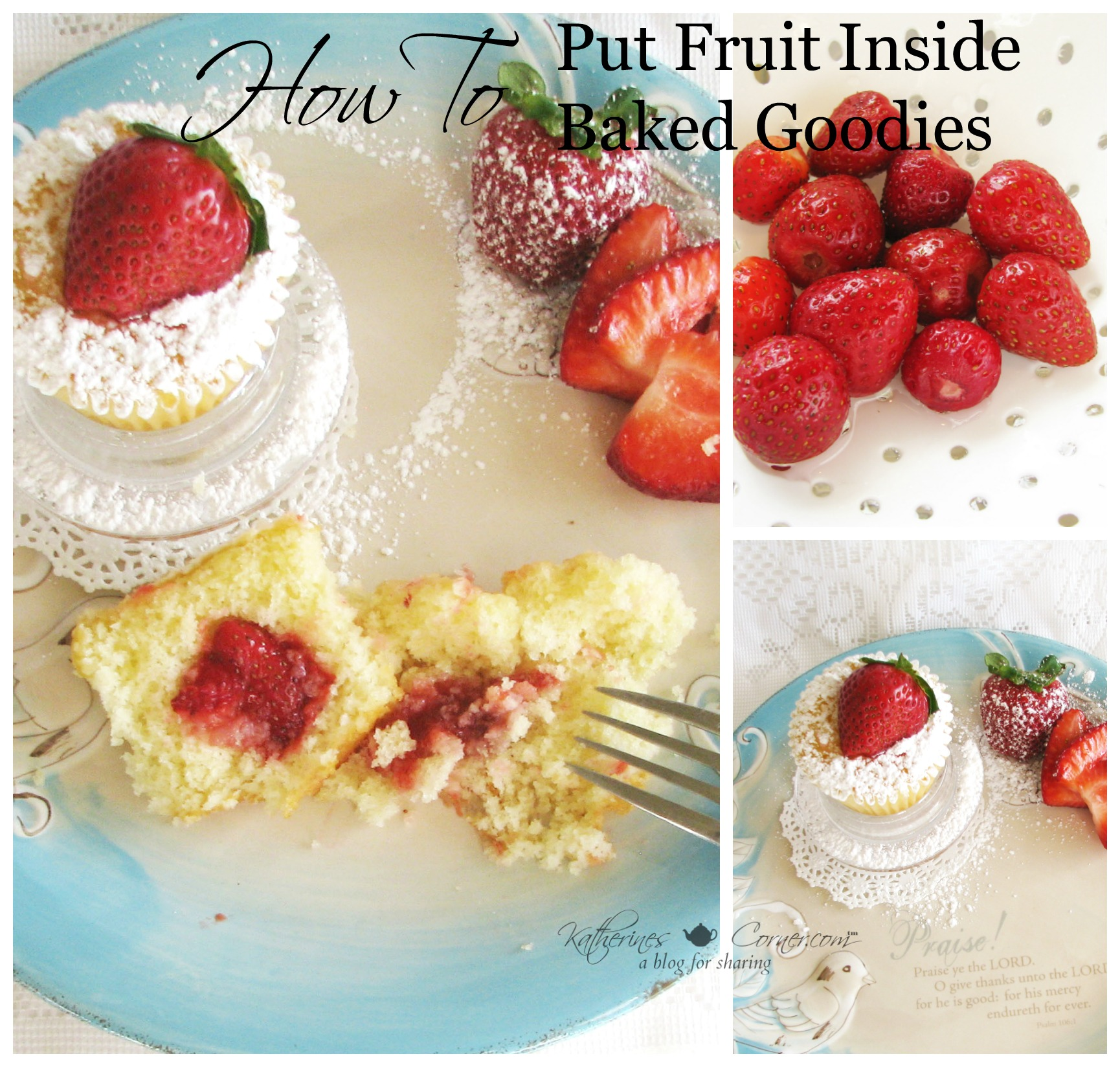 How to Put Fruit Inside Baked Goodies