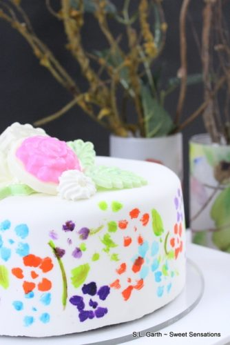 diy painted cake