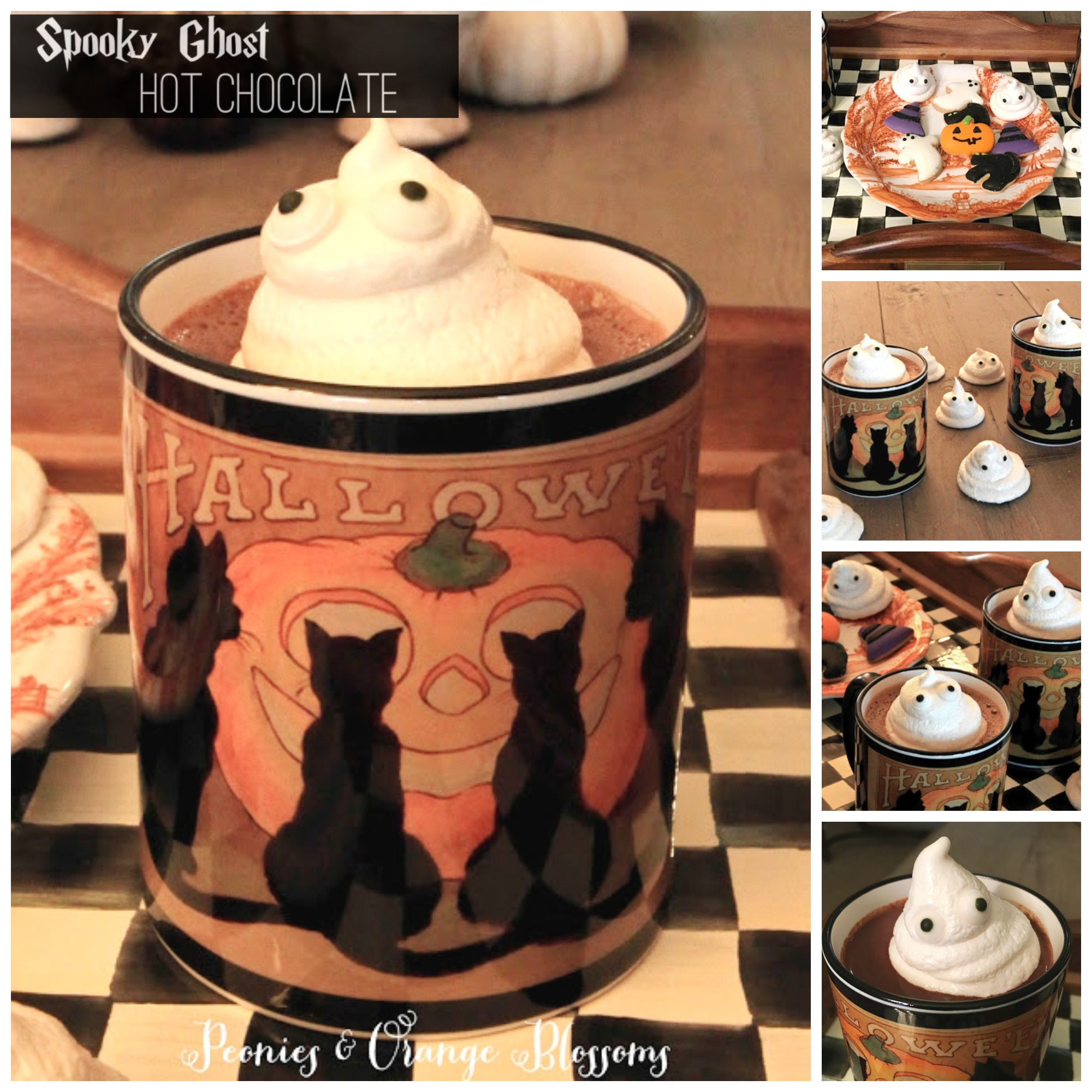 Make Spooky Ghost Hot Chocolate