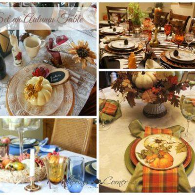 Set an Autumn Table