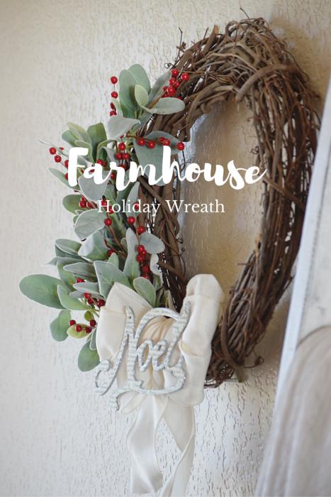 how to make a farm house wreath
