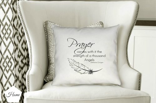original angel pillow design and quote from katherines corner