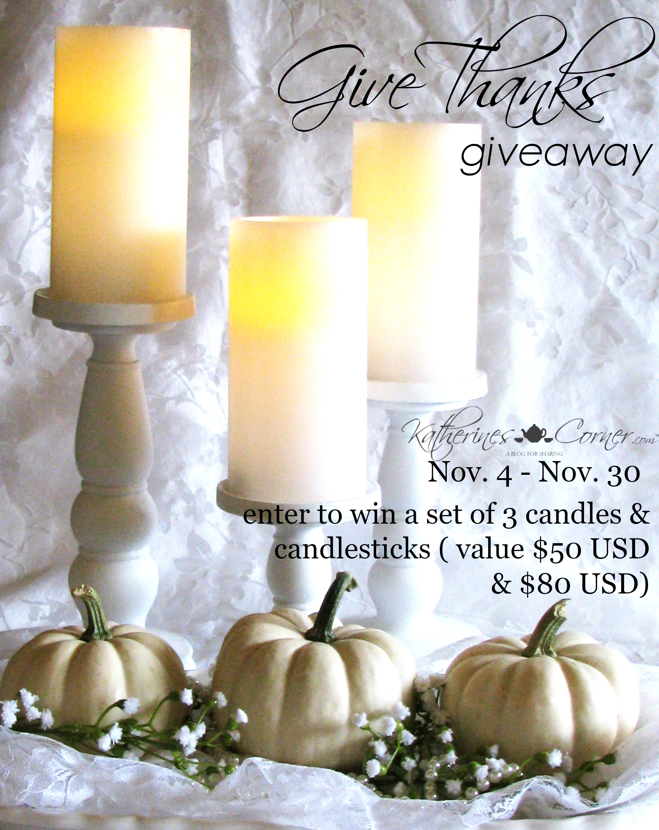Autumn Vignette Give Thanks Giveaway