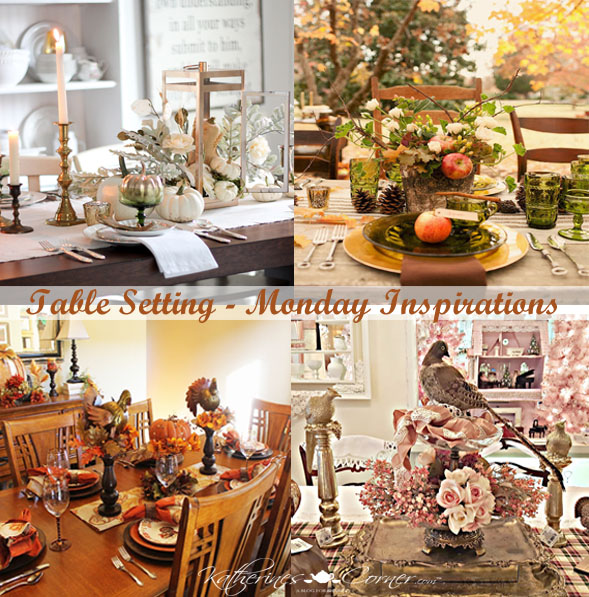 Table Setting Monday Inspirations