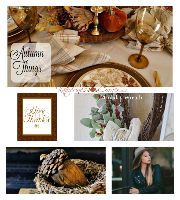Autumn Things Thursday Favorite Things link party