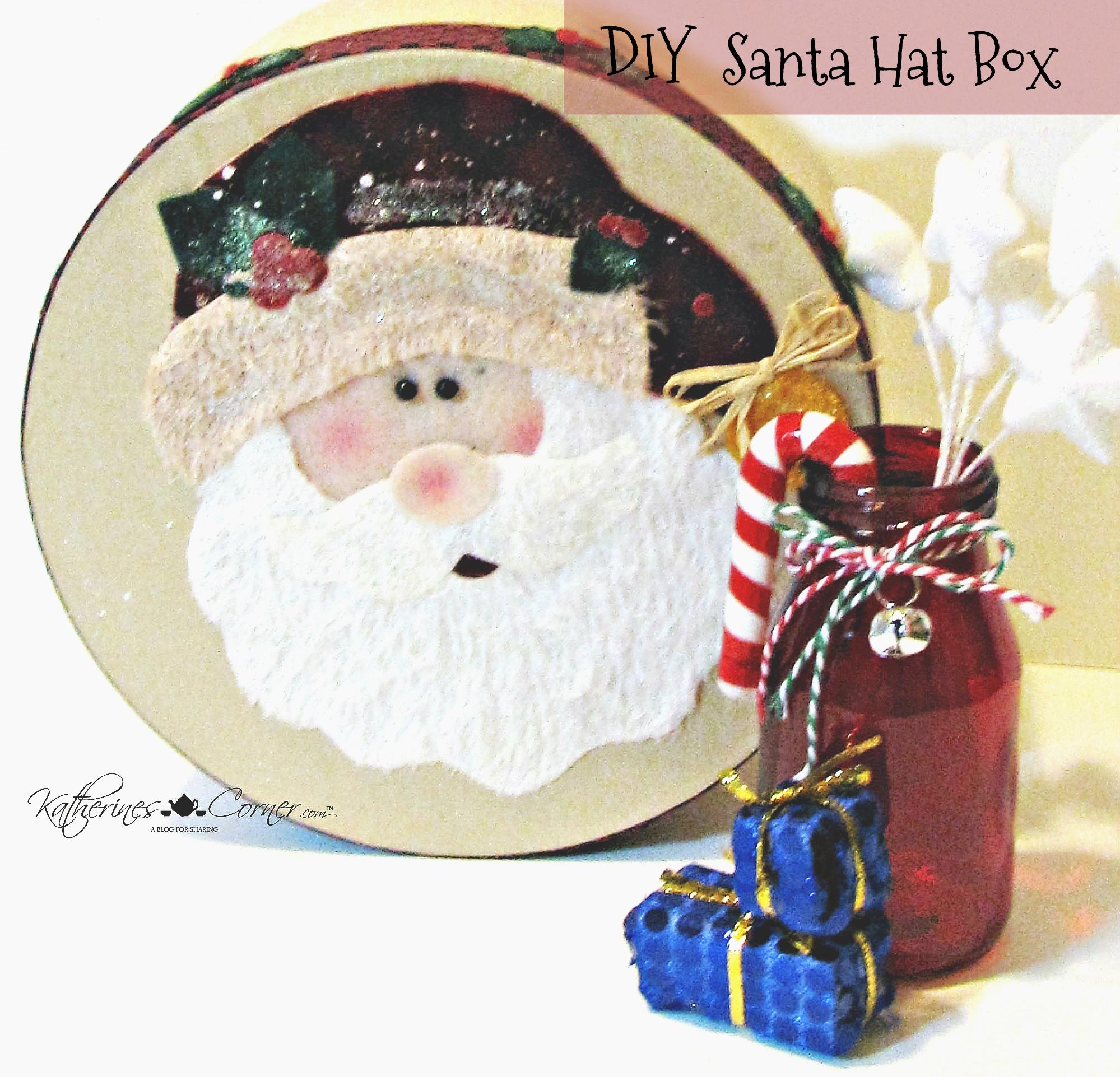 DIY Santa Hat Box