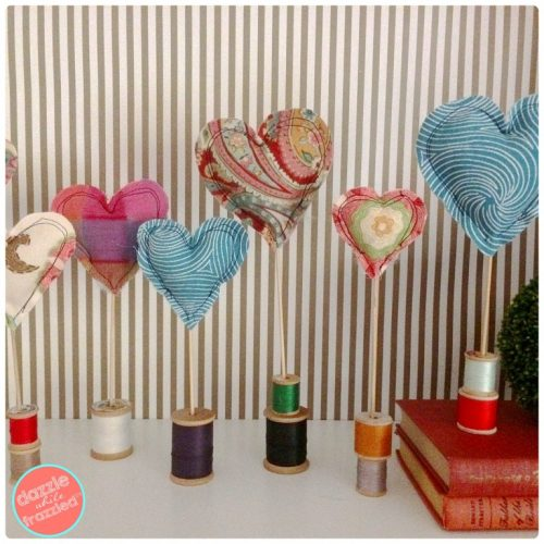 lets make that fabric heart decorations