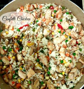 confetti chicken and the Thursday favorite things blog hop