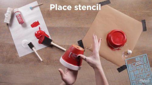 stencil clay pots