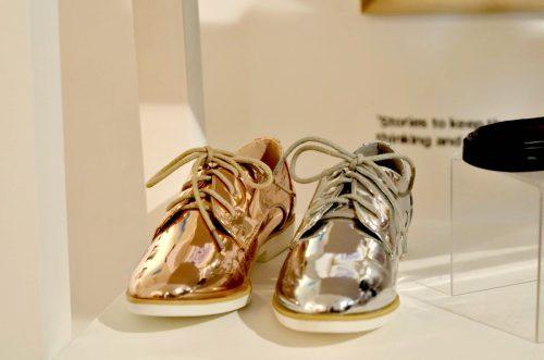 meallic shoes