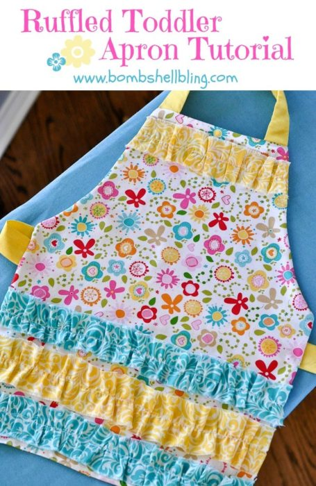 diy toddler apron