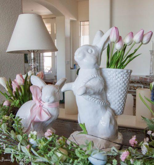 easter home tour steif bunny