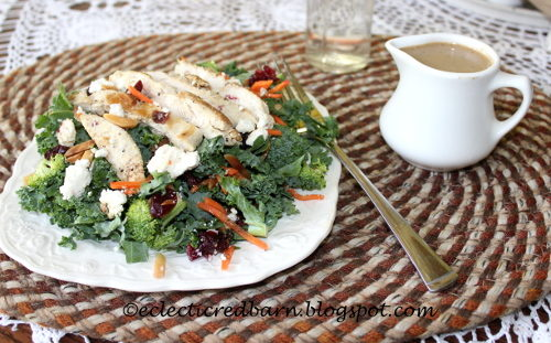 kale salad with Basil dressing